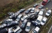 Ziya Bünyadov prospektində 12 avtomobil toqquşub