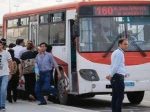 Bakıda dayanacağı olmayan avtobuslar