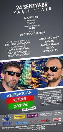 """""""Azərbaycan repinə dəstək"""" konsertinə tələsin"""