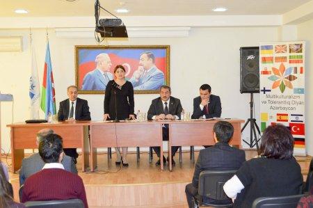 """Nərimanov rayonunda """"Multikulturalizm və tolerantlıq diyarı - Azərbaycan"""" adlı tədbir keçirilib."""