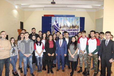"""Nərimanov rayonunda """"Gənclərin Biznes Məktəbi"""" layihəsinin bağlanış mərasimi keçirilib."""