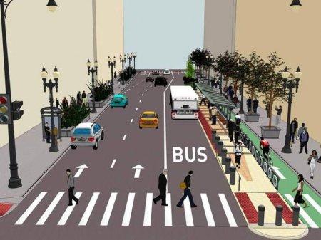 Bakıda avtobuslar üçün xüsusi yollar olacaq - Konkret küçələr müəyyənləşdi